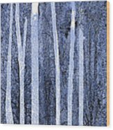 Trees Vertical Wood Print