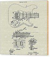Tremolo Device 1956 Patent Art Wood Print