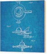 Tremulis Spaceship Hood Ornament Patent Art 1951 Blueprint Wood Print