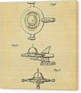Tremulis Spaceship Hood Ornament Patent Art 1951 Wood Print by Ian Monk
