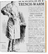 Trench Coat, 1917 Wood Print