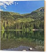 Trentino - Caprioli Lake Wood Print
