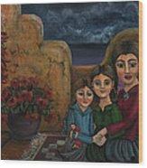Tres Mujeres Three Women Wood Print by Victoria De Almeida