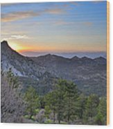 Trevenque Mountain At Sunset  2079 M Wood Print