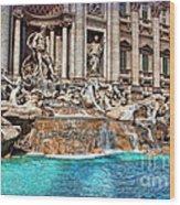 Trevi Fountain Wood Print