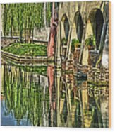 Treviso Canal And Reflections Wood Print