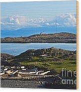 Trial Island And The Strait Of Juan De Fuca Wood Print