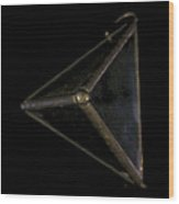 Triangle Adrift Wood Print