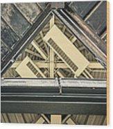 Triangle Ceiling Wood Print