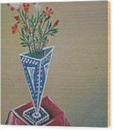 Triangle Flower Pot Wood Print