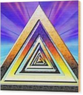 Triangle Pathway Wood Print