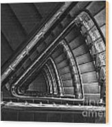 Triangle Staircaise In Bw Wood Print