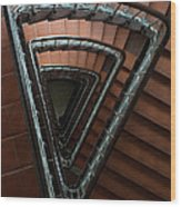 Triangle Staircase Wood Print