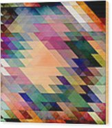 Triangles And Parallelograms Wood Print