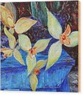 Triangular Blossom Wood Print