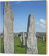 Triangular Callanish Stone Wood Print
