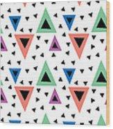 Triangular Dance Repeat Print Wood Print