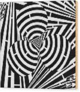 Triangular Spheres Maze Wood Print
