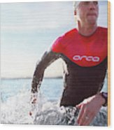 Triathlete And Two Time Iron Man Winner Wood Print