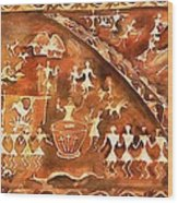 Tribal Art Wood Print