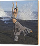Tribal Belly Dancer Wood Print