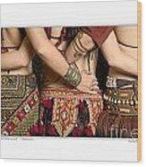 Tribal Dancers Wood Print