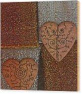 Tribal Hearts Wood Print