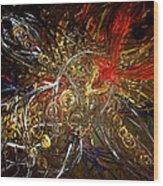Tribal Phoenix Sword Wood Print by Pretchill Smith