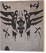 Tribal Skull Wood Print