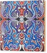 Tribal Symmetry 1 Wood Print