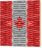 Triband Flags - Canada Wood Print