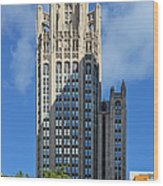 Tribune Tower Chicago - History Is Part Of The Building Wood Print