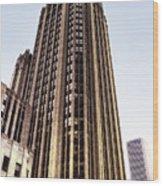 Tribune Tower Facade Wood Print