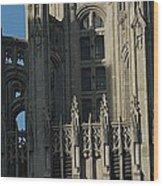 Tribune Tower Wood Print