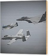 Tribute Flight Wafb 09 Tribute Flight Wood Print
