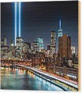 Tribute In Light Memorial Wood Print