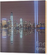 Tribute In Light Reflections Wood Print