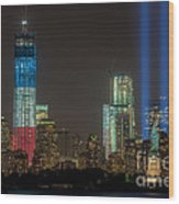 Tribute In Light Xiii Wood Print by Clarence Holmes