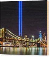 Tribute Lights From Brooklyn Wood Print