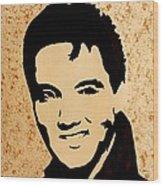 Tribute To Elvis Presley Wood Print