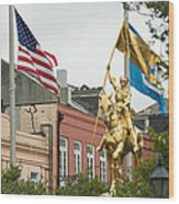 New Orleans Tribute To Joan Of Arc Wood Print