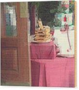 Little Italy - Rustic Door Wood Print