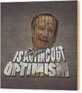 Tribute To Robin Williams Typography Wood Print