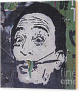 Tribute To Salvador Dali Wood Print