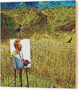 Tribute To Vincent Van Gogh - His Final Days Wood Print