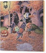 Trick Or Treat Wood Print