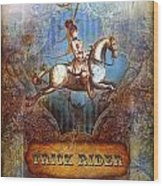 Trick Rider Wood Print