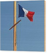 Tricolore Flag Wood Print