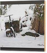 Tricycle Cart Wood Print