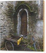 Tricycle Parked In Alleyway Wood Print